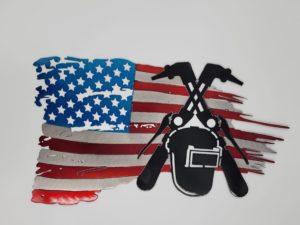 Tattered Welder Flag