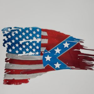 Tattered American/Confederate Flag