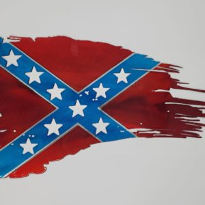 Tattered Confederate Flag